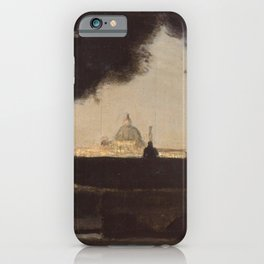 Jean-Baptiste-Camille Corot - The cauldron of Villa Medici iPhone Case