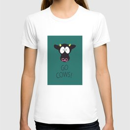 Go Cows Poster T-shirt