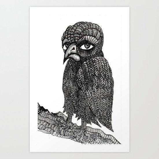 Morbid bird Art Print