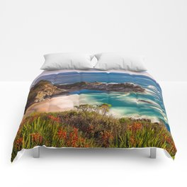 McWay Cove Spring Bloom, Big Sur Comforters