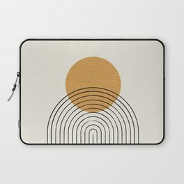 Gold Sun rainbow mountain Laptop Sleeve