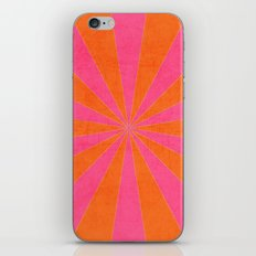 orange and hot pink starburst iPhone Skin