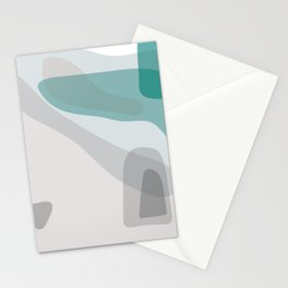 Abstract Early Morning Ocean Landscape Stationery Cards