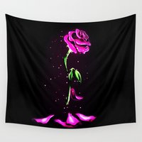 olaf Wall Tapestries featuring Beauty and The Beast Rose Flower by DavinciArt