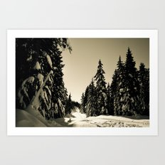 Snow Day Cypress Mountain BC Canada Art Print