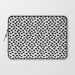 Black Brush Strokes Laptop Sleeve