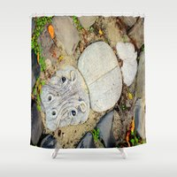camp Shower Curtains featuring Hippo Camp by oneofacard