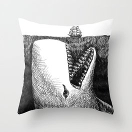 Nightmare From the Deep Throw Pillow