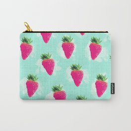 Watercolor Strawberry Carry-All Pouch