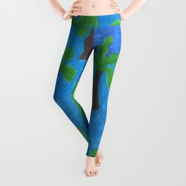 Palm Trees in the Ocean Leggings