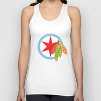 blackhawks Tank Tops featuring City of the Four Feathers by fohkat