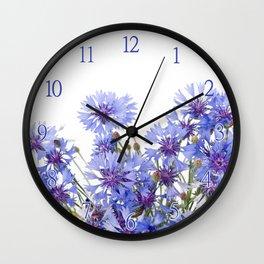 Cornflower and chamomile many flowers Wall Clock