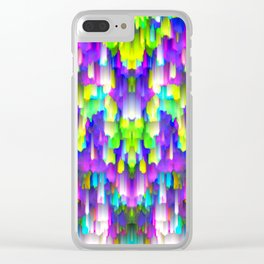 Colorful digital art splashing G392 Clear iPhone Case
