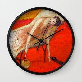 A Summer's Heat (My Little Black Cat) by Florine Stettheimer Wall Clock