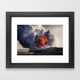 Kilauea Volcano at Kalapana 8 Framed Art Print