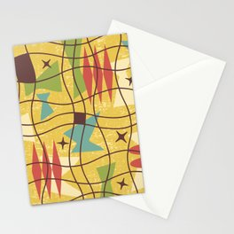 Mid Century Modern Abstract Pattern 414 Stationery Cards