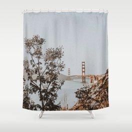 san francisco, california / golden gate bridge Shower Curtain