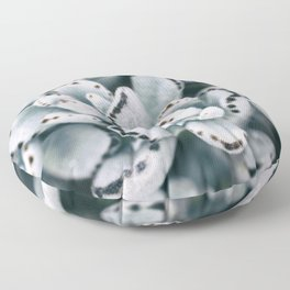 Blue soft and delicate cactus Floor Pillow