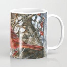 Winter Cardinal by Teresa Thompson Coffee Mug