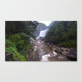 Mangatini Falls, Upper Ngakawau River, Charming Creek Walkway, Buller, New Zealand Canvas Print