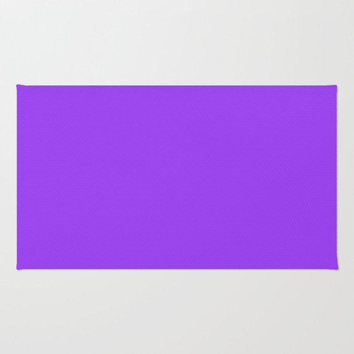 Bright Fluorescent Neon Purple Rug