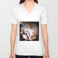 emma watson V-neck T-shirts featuring Watson by Probably Plaid