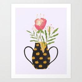 The Girl and The Broken Vase Art Print