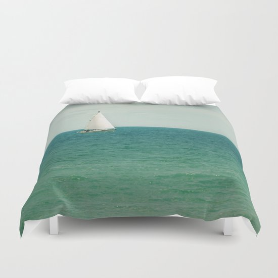 Minty Sail Duvet Cover