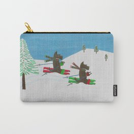Hitting the Slopes - Scotties - Scottish Terriers Carry-All Pouch