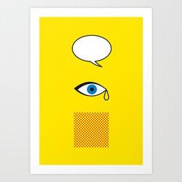 Iconic Painters: Roy Lichtenstein Art Print