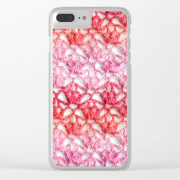 Cherry blossom crochet Clear iPhone Case