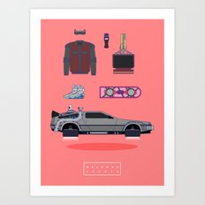 Welcome to 2015 - Back to the future Art Print