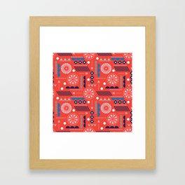 GEOMETRIC RED Framed Art Print