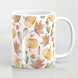 Pumpkins, candles, maple leaves, oak leaves Coffee Mug