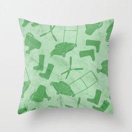GARDEN TOOL KIT PATTERN Throw Pillow