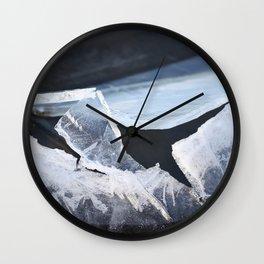 Broken Ice Winter Scene #decor #society6 #buyart Wall Clock