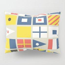 Geometric Nautical flag and pennant Pillow Sham