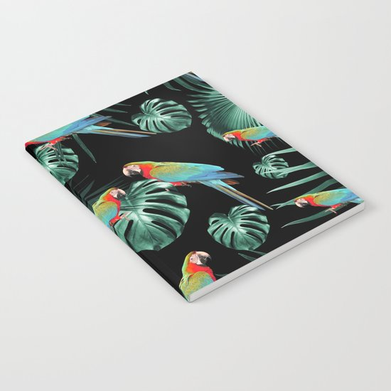 Parrots in the Tropical Jungle Night #2 #tropical #decor #art #society6 by anitabellajantz