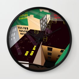 mazes of cities Wall Clock