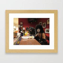 KISS at the Bar Framed Art Print