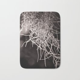 Nature Abstract  Black and White Bath Mat