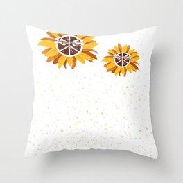 Vintage Faith Hope Love Peace Sign SunFlower Town of Snowmass Village City Throw Pillow