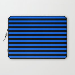 Across striped black and blue background Laptop Sleeve