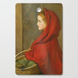 """John Everett Millais """"Red Riding Hood (A Portrait of Effie Millais, the artist's daughter)"""" Cutting Board"""
