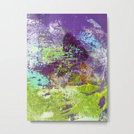 Heron Abstract Painting Metal Print