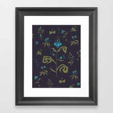 Gothic Botanical Pattern I Framed Art Print