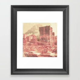 Crumble Mountain Framed Art Print