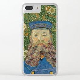 Van Gogh Postman- Portrait of Joseph Roulin Clear iPhone Case
