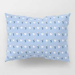 Boy with Guitar and Singing white Dog, blue,  boys and Girls Pillow Sham