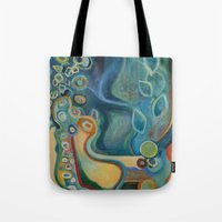 merlin Tote Bags featuring Merlin by Dena Nord